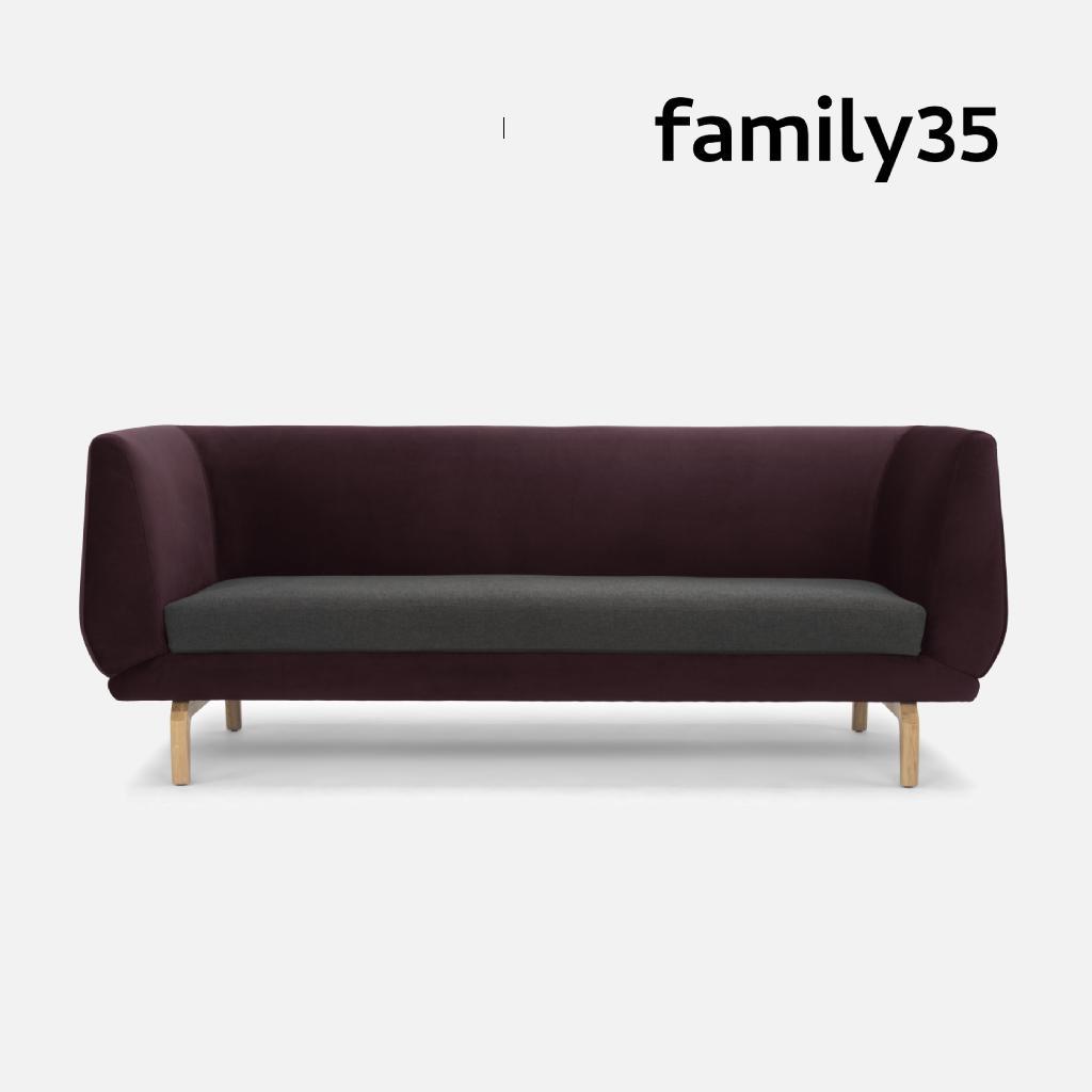 Ronaldo 三人座沙發 - family35 丹麥原創設計